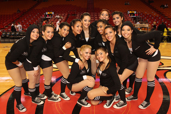 The Goddesses Dance Team Performed The Heat Game Hialeah
